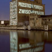 PPÓG | Schwelle, Lichtprojektion Narracje, Gdansk, Lichtfestival, Lightfestival, Polen, Danzig, 2009. Foto: Philipp Haas