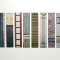 Fassadenfragmente | Fotografie, Digitaldruck, Aluminiuml, 2009Ausstellung 'Kanalisierung' C15, Sammlung Ulla und Heinz Lohmann im Rahmen des Architektursommers 2009, Hamburg