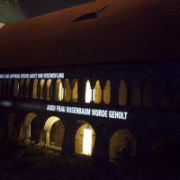 Refugium, Lichtprojektion Kreuzgang Dom, Lichtungen Hildesheim, 2015, Foto: Sara Förster