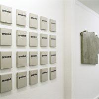 Fassadenreflief | Gasbeton, Putzmörtel, 2009Ausstellung 'Kanalisierung' C15, Sammlung Ulla und Heinz Lohmann im Rahmen des Architektursommers 2009, Hamburg