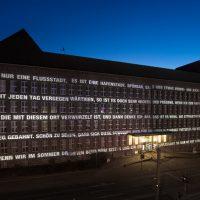 Resonanzraum, Lichtprojektion Tausendfensterhaus, Duisburger Akzente 2016, Foto: Dirk Soboll
